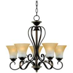 Duchess One Tier Five Uplight Chandelier