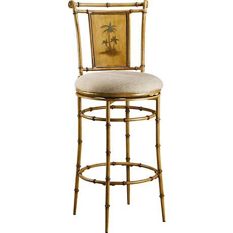 "Hillsdale Islands Swivel 30"" High Metal Barstool"