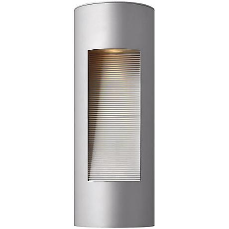 "Hinkley Luna Dark Sky 16"" High Titanium Outdoor Wall Light"
