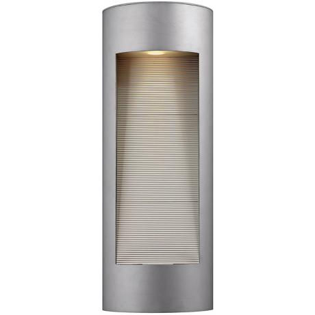 "Hinkley Luna Dark Sky 24"" High Titanium Outdoor Wall Light"