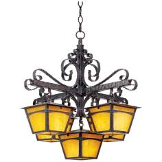 "La Hacienda 28"" Wide Chandelier"