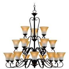 Duchess Palladian Bronze Finish 18-Light Chandelier