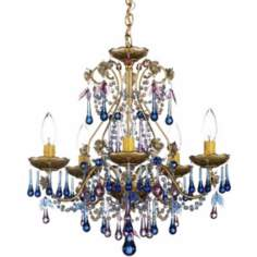Schonbek Rose Blue Violet Crystal Chandelier