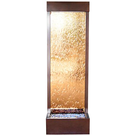 "Gardenfall 72"" LED Bronze Glass Indoor/Outdoor Fountain"