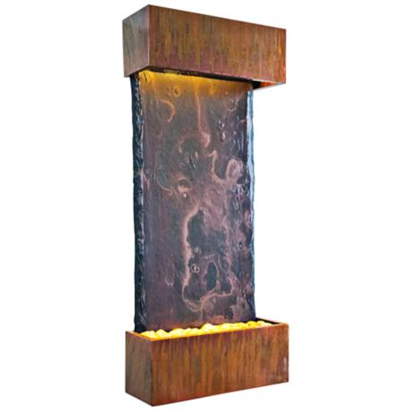 Patina Copper Finish Medium Nojoqui Falls Fountain