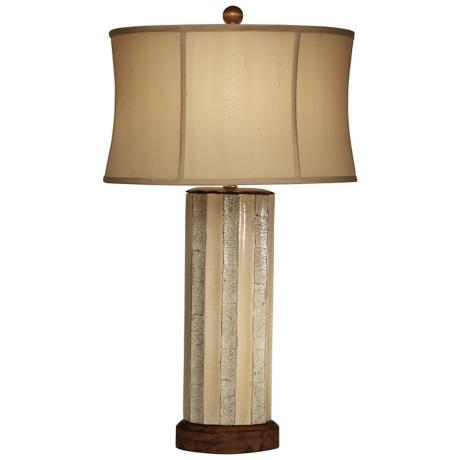 Trees in Winter Oval Ceramic Table Lamp by The Natural Light