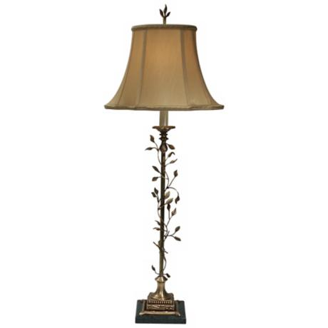 Amadeus Spring Brass Buffet Lamp by The Natural Light