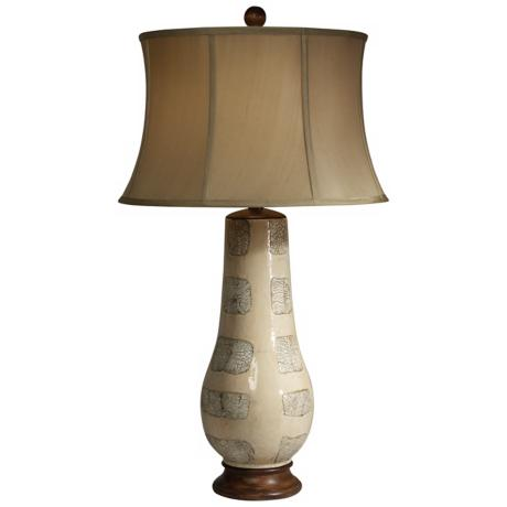 Trees in Winter Ceramic Vase Table Lamp by The Natural Light