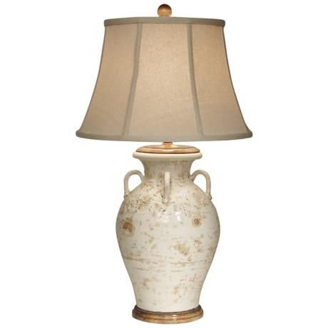 Bianco Olivaris Ivory Tuscan Table Lamp