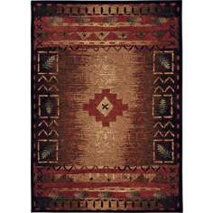 Fresh Oxygen Brown Multicolor Indoor-Outdoor Area Rug