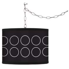 Swag Style Portholes Shade Plug-In Chandelier