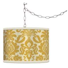 Stacy Garcia Lemongrass Florence Giclee Plug-In Swag Chandelier