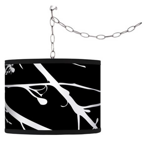 Stacy Garcia Calligraphy Tree Black Plug-In Swag Chandelier