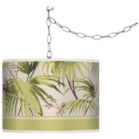 Swag Style Palm Breeze Shade Plug-In Chandelier