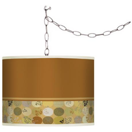 Swag Style Wispy Shade Plug-In Chandelier