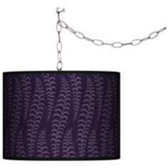 Stacy Garcia Fancy Fern Rich Plum Plug-In Swag Chandelier