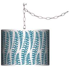 Stacy Garcia Fancy Fern Peacock Plug-In Swag Chandelier
