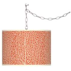 Stacy Garcia Seafan Coral Giclee Plug-In Swag Chandelier