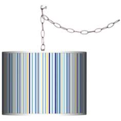 Stacy Garcia Cabana Stripe Giclee Plug-In Swag Chandelier