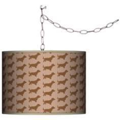 Kathy Ireland Bowzer Swag Plug-In Chandelier