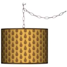 Kathy Ireland Pineapple Passion Swag Plug-In Chandelier
