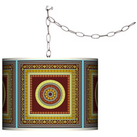 Stacy Garcia Tiber Medallion Garnet Plug-In Swag Chandelier
