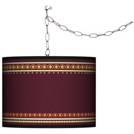 Stacy Garcia Ebro Garnet Giclee Plug-In Swag Chandelier