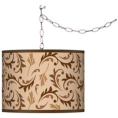 Swag Style Fall Breeze Shade Plug-In Chandelier