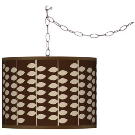 Swag Style Hi Fi Shade Plug-In Chandelier
