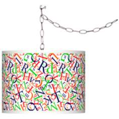 Swag Style Alphasoup Primary Shade Plug-In Chandelier