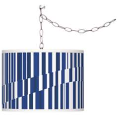 Techno River Giclee Plug-In Swag Chandelier