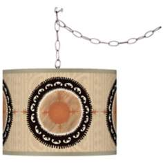 Travelers Compass Giclee Plug-In Swag Chandelier