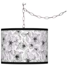 Stacy Garcia Linear Floral Silver Swag Chandelier