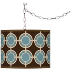 Stacy Garcia Porthole Giclee Plug-In Swag Chandelier