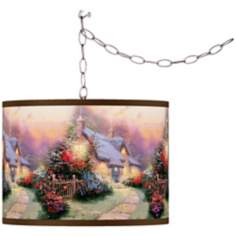 Thomas Kinkade Glory of Evening Swag Chandelier