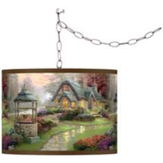 Thomas Kinkade Make a Wish Cottage Swag Chandelier