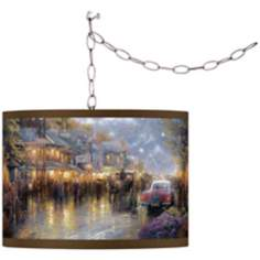 Thomas Kinkade Mountain Memories Swag Chandelier
