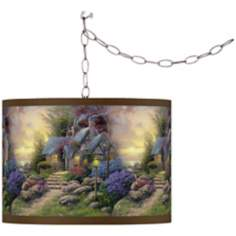 Thomas Kinkade Seaside Hideaway Swag Chandelier