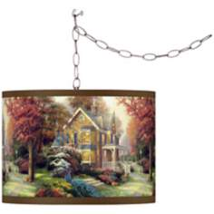 Thomas Kinkade Victorian Autumn Swag Chandelier