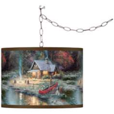 Thomas Kinkade The End Of A Perfect Day II Swag Chandelier