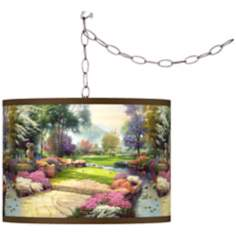 Thomas Kinkade Living Waters Golfer's Paradise Swag Light