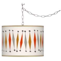 Tremble Giclee Swag Style Plug-In Chandelier