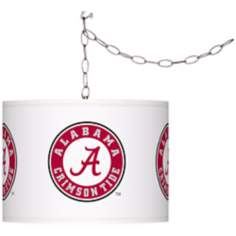 "The University of Alabama 13 1/2""W Plug-In Swag Chandelier"