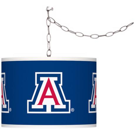 "The University of Arizona 13 1/2""W Plug-In Swag Chandelier"