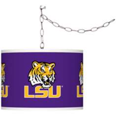 "Louisiana State University 13 1/2""W Plug-In Swag Chandelier"