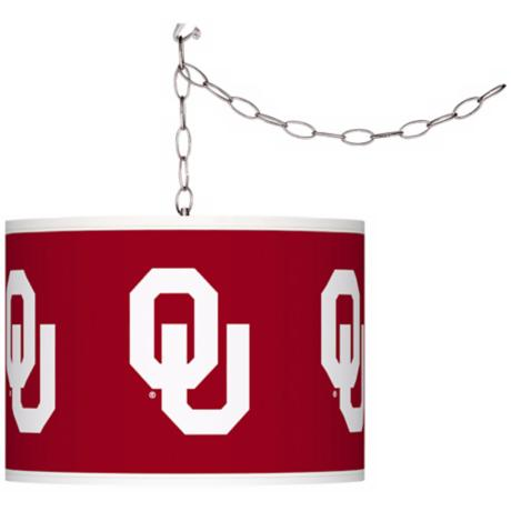 "The University of Oklahoma 13 1/2""W Plug-In Swag Chandelier"