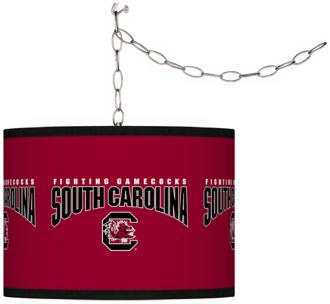 "University of South Carolina 13 1/2"" Plug-In Swag Chandelier (F9542-Y4682)"
