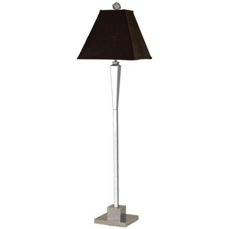 Candice Olson Margo Chocolate Silk Shade Floor Lamp