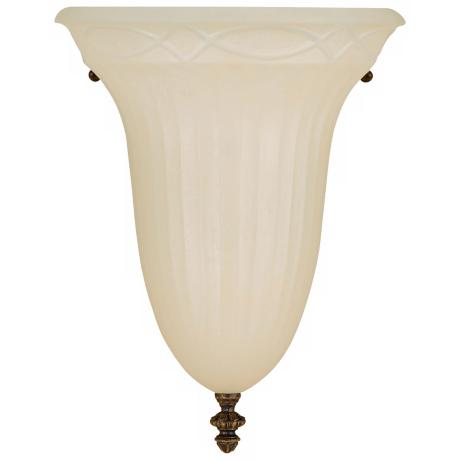 "Edwardian 12"" High Half Moon Wall Sconce"
