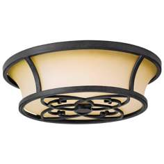"Knight's Hall 16"" Diameter Flushmount Ceiling Fixture"